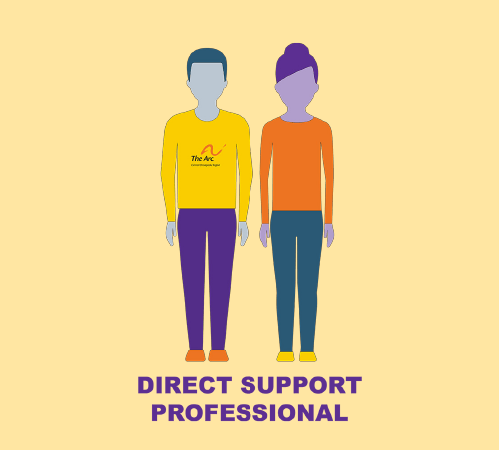 Direct Support Professional illustrated graphic