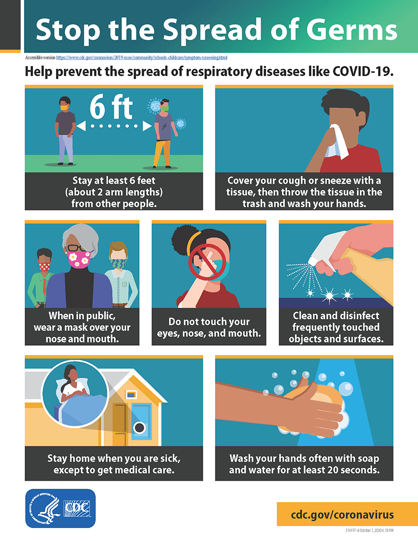 Stop the Spread of Germs graphic